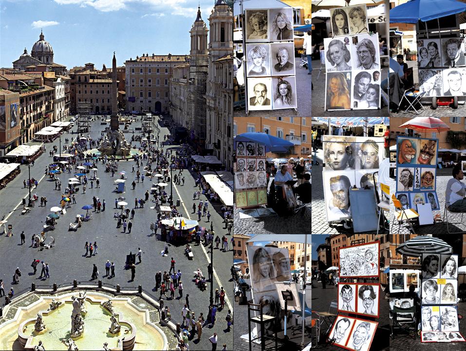 Ampliar Piazza Navonna, Roma